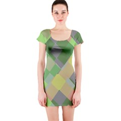 Squares and other shapes Short sleeve Bodycon dress