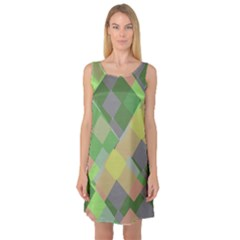 Squares and other shapes Sleeveless Satin Nightdress