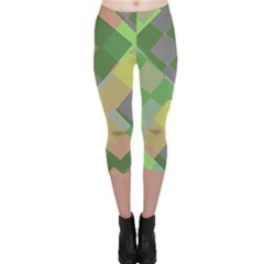 Squares And Other Shapes Capri Leggings
