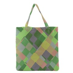 Squares and other shapes Grocery Tote Bag