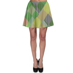 Squares And Other Shapes Skater Skirt