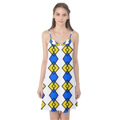 Blue Yellow Rhombus Pattern Camis Nightgown