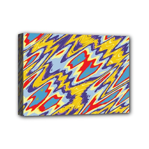 Colorful Chaos Mini Canvas 7  X 5  (stretched)