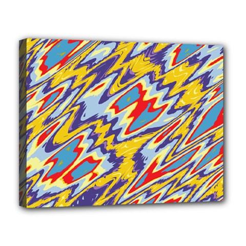 Colorful Chaos Canvas 14  X 11  (stretched)