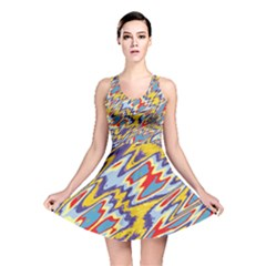 Colorful chaos Reversible Skater Dress