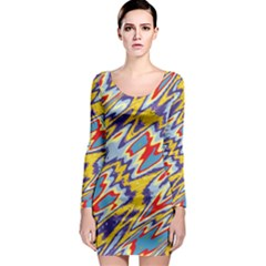 Colorful chaos Long Sleeve Bodycon Dress