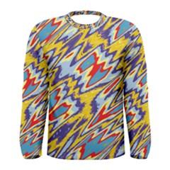 Colorful Chaos Men Long Sleeve T Shirt