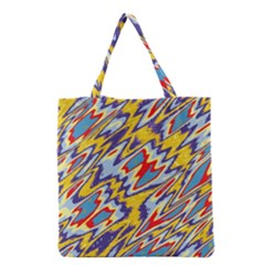 Colorful chaos Grocery Tote Bag