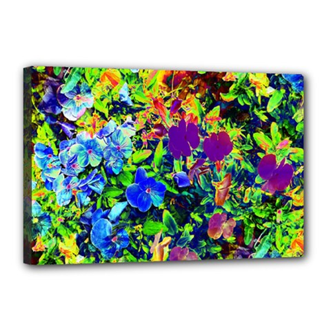 The Neon Garden Canvas 18  X 12