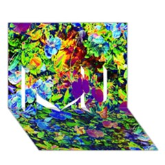 The Neon Garden I Love You 3d Greeting Card (7x5)