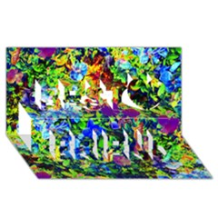 The Neon Garden Best Friends 3D Greeting Card (8x4)