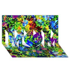 The Neon Garden Mom 3d Greeting Card (8x4)
