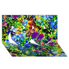 The Neon Garden Twin Hearts 3d Greeting Card (8x4)