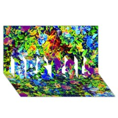 The Neon Garden Best Sis 3d Greeting Card (8x4)
