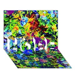 The Neon Garden HOPE 3D Greeting Card (7x5)
