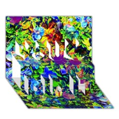 The Neon Garden You Did It 3d Greeting Card (7x5)