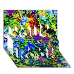 The Neon Garden You Rock 3D Greeting Card (7x5)