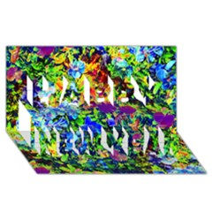 The Neon Garden Happy New Year 3d Greeting Card (8x4)