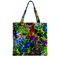 The Neon Garden Zipper Grocery Tote Bags