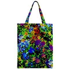 The Neon Garden Zipper Classic Tote Bags