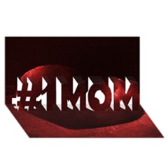 Red Heart #1 MOM 3D Greeting Cards (8x4)