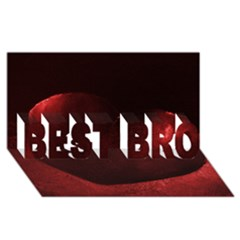 Red Heart Best Bro 3d Greeting Card (8x4)