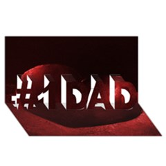 Red Heart #1 Dad 3d Greeting Card (8x4)