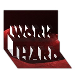 Red Heart WORK HARD 3D Greeting Card (7x5)