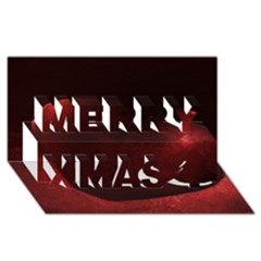 Red Heart Merry Xmas 3d Greeting Card (8x4)