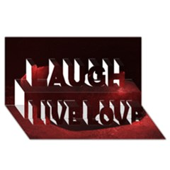 Red Heart Laugh Live Love 3d Greeting Card (8x4)