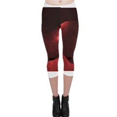 Red Heart Capri Leggings