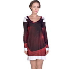 Red Heart Long Sleeve Nightdresses