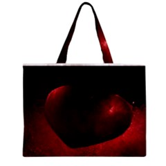 Red Heart Zipper Tiny Tote Bags