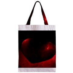 Red Heart Zipper Classic Tote Bags