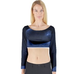 Blue Heart Collection Long Sleeve Crop Top