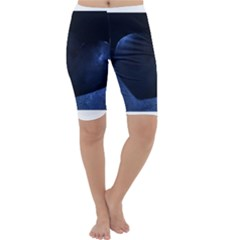 Blue Heart Collection Cropped Leggings