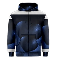 Blue Heart Collection Men s Zipper Hoodies