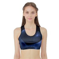Blue Heart Collection Women s Sports Bra with Border