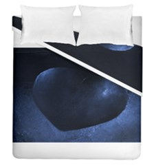 Blue Heart Collection Duvet Cover (full/queen Size)