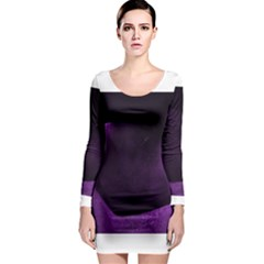 Purple Heart Collection Long Sleeve Bodycon Dresses