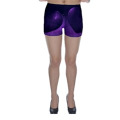 Purple Heart Collection Skinny Shorts