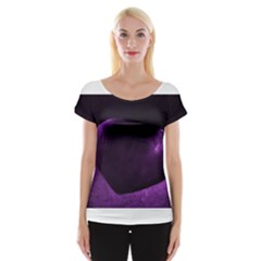 Purple Heart Collection Women s Cap Sleeve Top