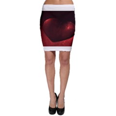 Red Heart Bodycon Skirts