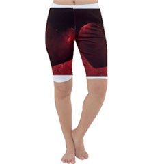 Red Heart Cropped Leggings