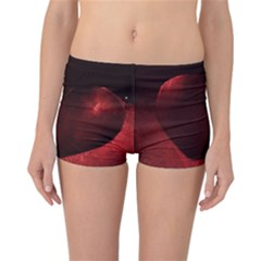 Red Heart Reversible Boyleg Bikini Bottoms