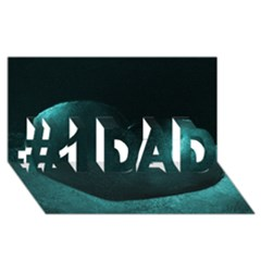 Teal Heart #1 Dad 3d Greeting Card (8x4)