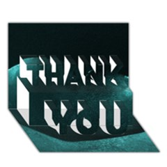 Teal Heart THANK YOU 3D Greeting Card (7x5)