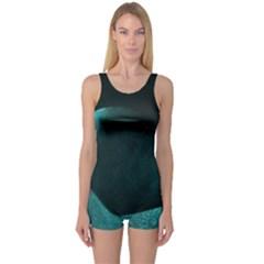 Teal Heart Women s Boyleg One Piece Swimsuits