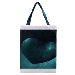 Teal Heart Classic Tote Bags