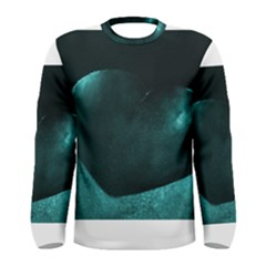 Teal Heart Men s Long Sleeve T-shirts